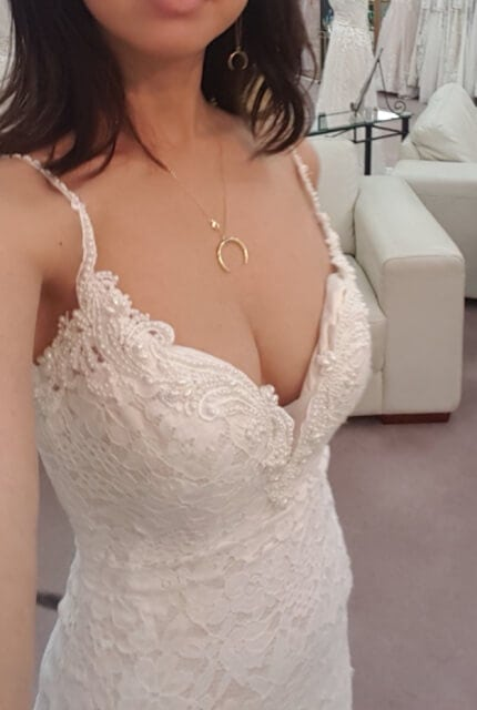 Abbey Bridal – Size 6 Fit and Flare dress | Second hand wedding dresses Wolli Creek - 4