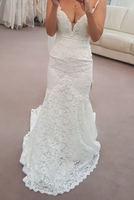 Abbey Bridal – Size 6 Fit and Flare dress | Second hand wedding dresses Wolli Creek - 9
