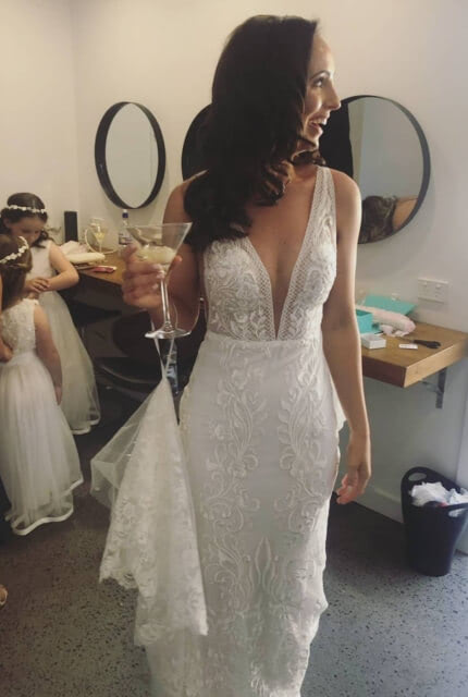 Made With Love Bridal – Size 6 Fishtail dress | Second hand wedding dresses Southport - Size 6