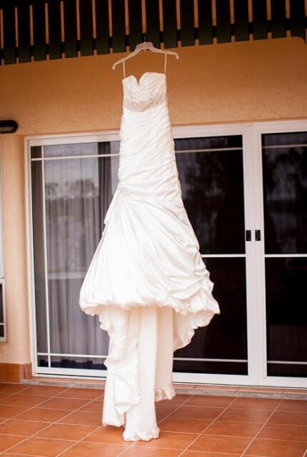Maggie Sottero – Size 6 Trumpet dress | Second hand wedding dresses Townsville - 3
