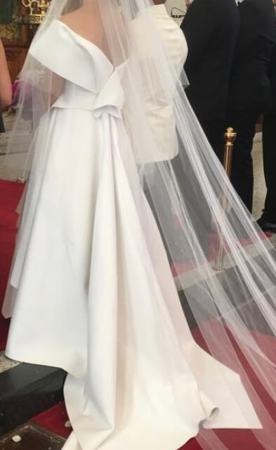 Cappellazzo Couture – Size 8 A-Line dress | Second hand wedding dresses Earlwood - 3