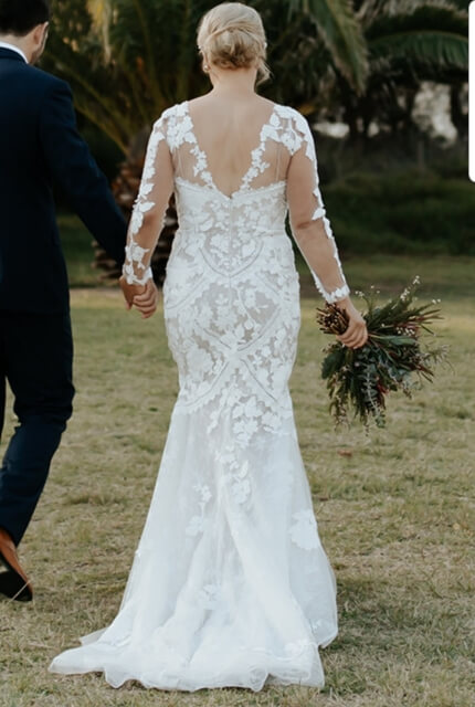 Bridal by Aubrey Rose – Size 12 Fishtail dress | Second hand wedding dresses Burraneer - 7