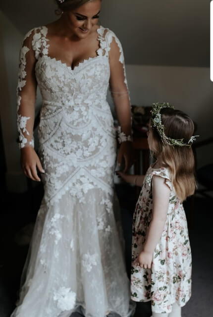 Bridal by Aubrey Rose – Size 12 Fishtail dress | Second hand wedding dresses Burraneer - 4