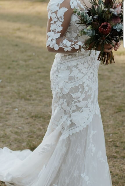 Bridal by Aubrey Rose – Size 12 Fishtail dress | Second hand wedding dresses Burraneer - Size 12