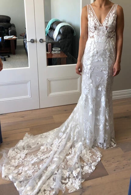 Made With Love Bridal – Size 8 A-Line dress | Second hand wedding dresses Greenwood - 2