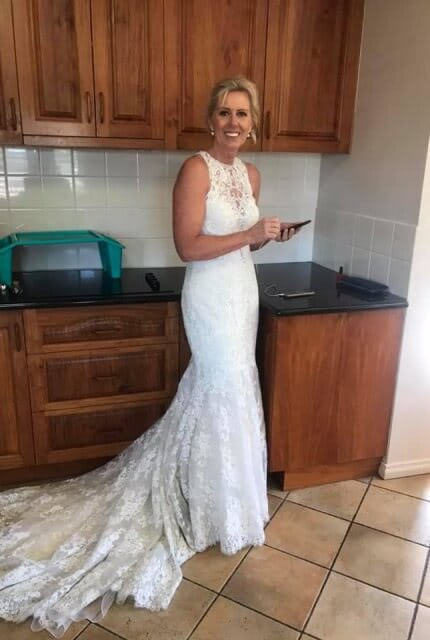 Allure Couture – Size 12 Fishtail dress | Second hand wedding dresses Red Hill - 7