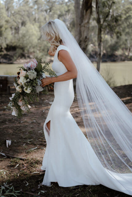 Bespoke / Other – Size 8 Fit and Flare dress | Second hand wedding dresses Mentone - Size 8