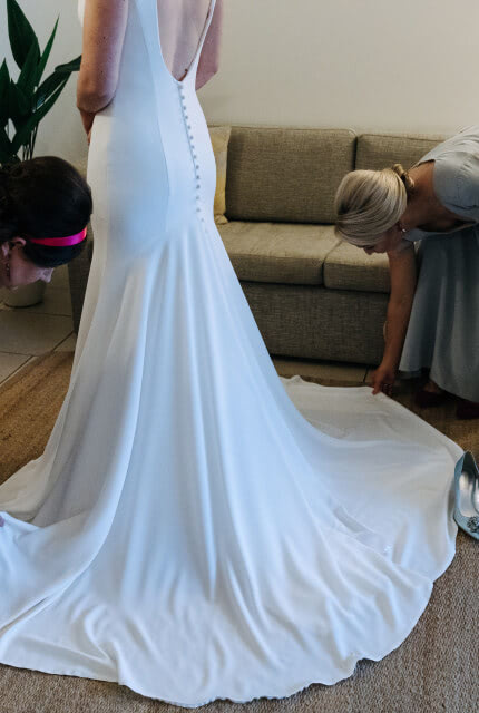 Allure Romance – Size 10 Fit and Flare dress | Second hand wedding dresses Toowoomba - Size 10