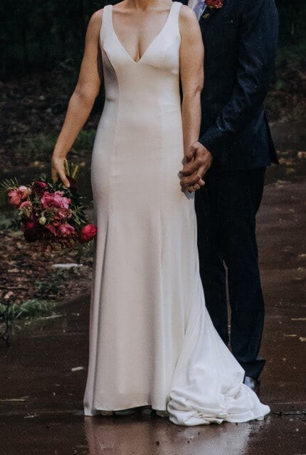 Allure Romance – Size 10 Fit and Flare dress | Second hand wedding dresses Toowoomba - 3