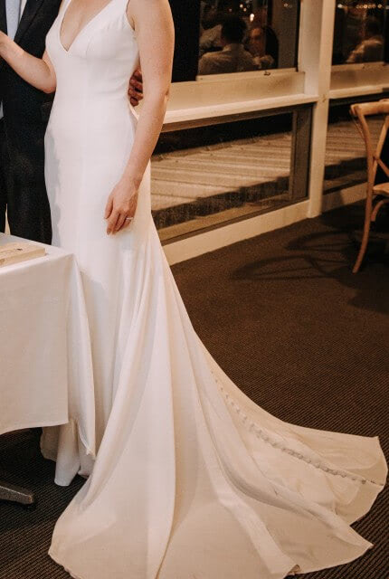 Allure Romance – Size 10 Fit and Flare dress | Second hand wedding dresses Toowoomba - 4