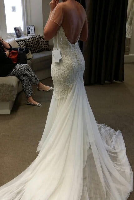 Rosa Clara – Size 8 Fit and Flare dress | Second hand wedding dresses Dingley Village - 2