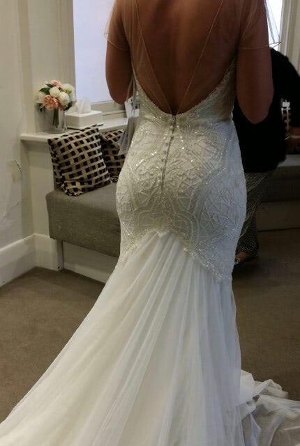 Rosa Clara – Size 8 Fit and Flare dress | Second hand wedding dresses Dingley Village - Size 8