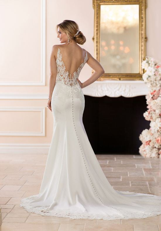 Stella York – Size 6 A-Line dress | Second hand wedding dresses Hughesdale - 2