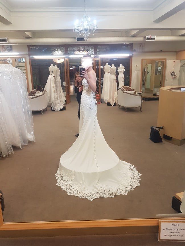 Stella York – Size 6 A-Line dress | Second hand wedding dresses Hughesdale - 4