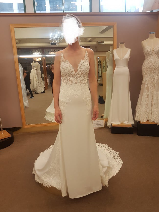 Stella York – Size 6 A-Line dress | Second hand wedding dresses Hughesdale - 5