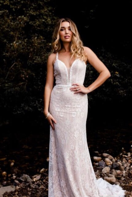 Bespoke / Other – Size 12 Fit and Flare dress | Second hand wedding dresses Essendon - Size 12
