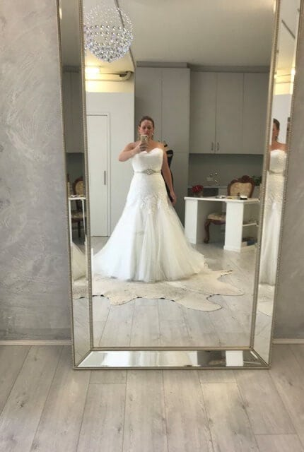 Mia Solano – Size 16 Fit and Flare dress | Second hand wedding dresses Ryde - 5