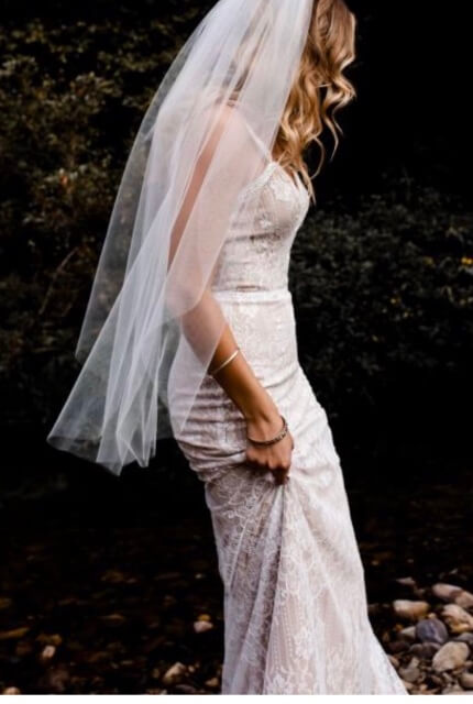 Bespoke / Other – Size 12 Fit and Flare dress | Second hand wedding dresses Essendon - 8