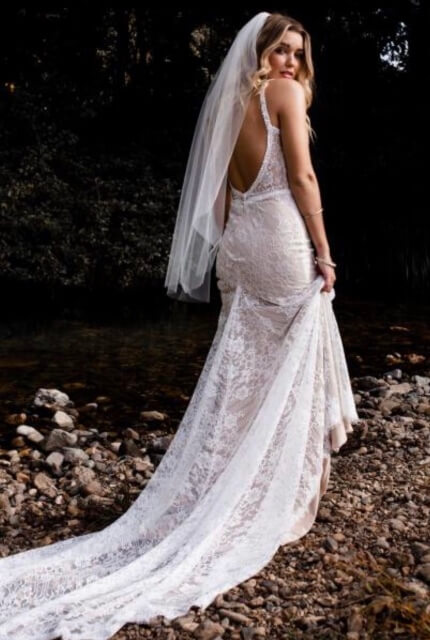 Bespoke / Other – Size 12 Fit and Flare dress | Second hand wedding dresses Essendon - 7