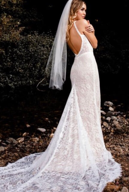 Bespoke / Other – Size 12 Fit and Flare dress | Second hand wedding dresses Essendon - 3