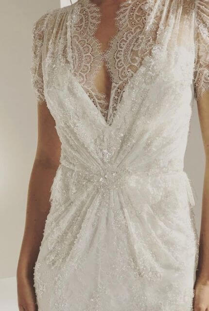 Jenny Packham – Size 12 Fishtail dress | Second hand wedding dresses Denmark - 2