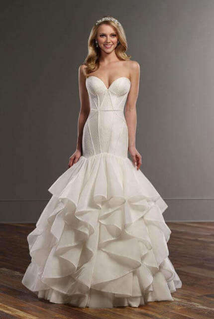 Martina Liana – Size 10 Fit and Flare dress | Second hand wedding dresses Picnic Point - Size 10