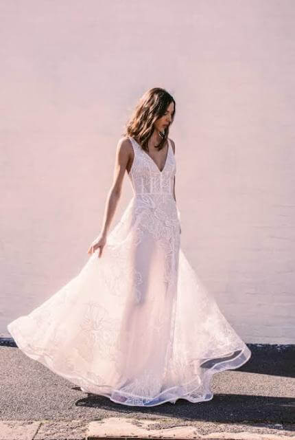 Suzanne Harward – Size 8 A-Line dress | Second hand wedding dresses South Yarra - 8