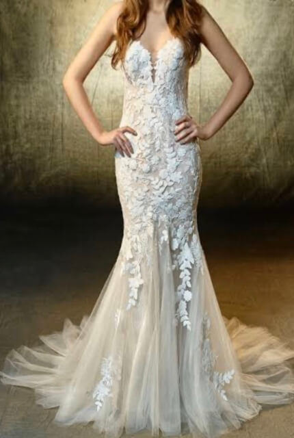 Enzoani – Size 8 Fishtail dress | Second hand wedding dresses Beverly Hills - 6