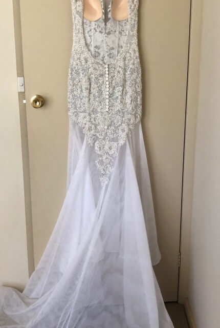Oglia-Loro – Size 8 Fit and Flare dress | Second hand wedding dresses Whiteheads Creek - 3