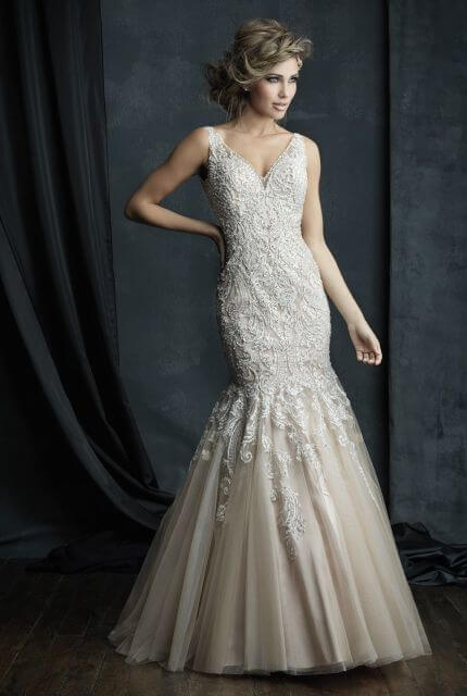 Allure Couture – Size 10 Fit and Flare dress | Second hand wedding dresses Cranbourne North - 2