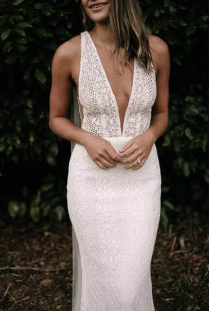 Made With Love Bridal – Size 10 Slip dress | Second hand wedding dresses Forest Hill - Size 10