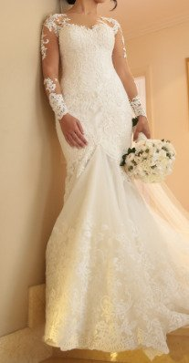 Norma Bridal Couture – Size 8 Trumpet dress | Second hand wedding dresses Beshay - 2
