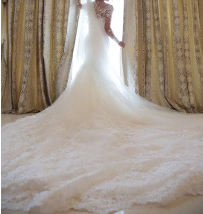 Norma Bridal Couture – Size 8 Trumpet dress | Second hand wedding dresses Beshay - 4