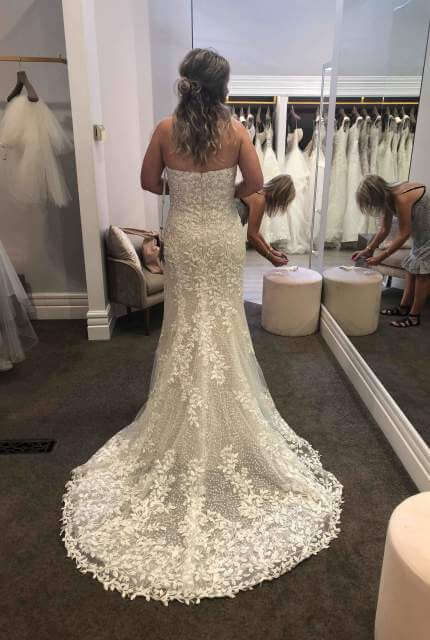 Demetrios – Size 12 Fit and Flare dress | Second hand wedding dresses Abbotsford - Size 12