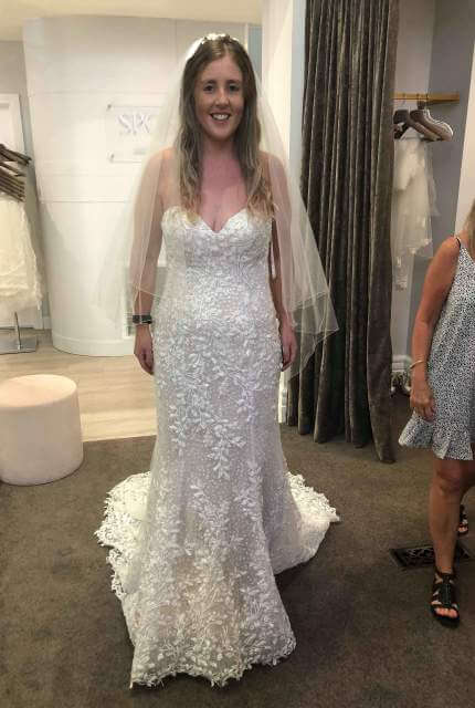 Demetrios – Size 12 Fit and Flare dress | Second hand wedding dresses Abbotsford - 2