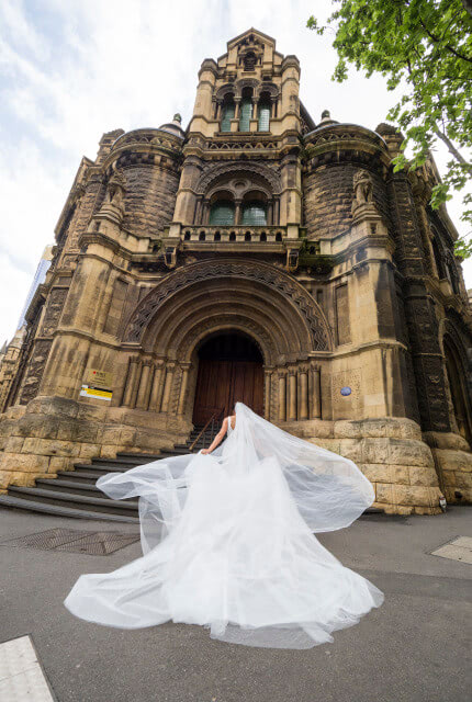 Jason Grech White – Size 8 Fit and Flare dress | Second hand wedding dresses Yarraville - 3