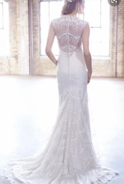 Madison James – Size 8 Fit and Flare dress | Second hand wedding dresses Wattle Glen - Size 8