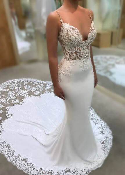 Enzoani – Size 14 Trumpet dress | Second hand wedding dresses Thornbury - 4