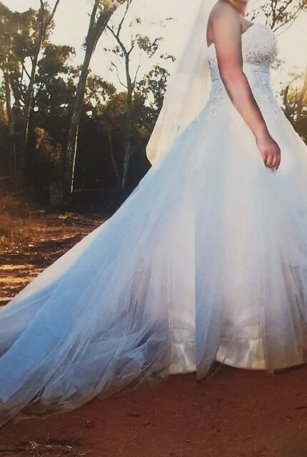 Cizzy – Size 16 Strapless dress | Second hand wedding dresses Muswellbrook - Size 16