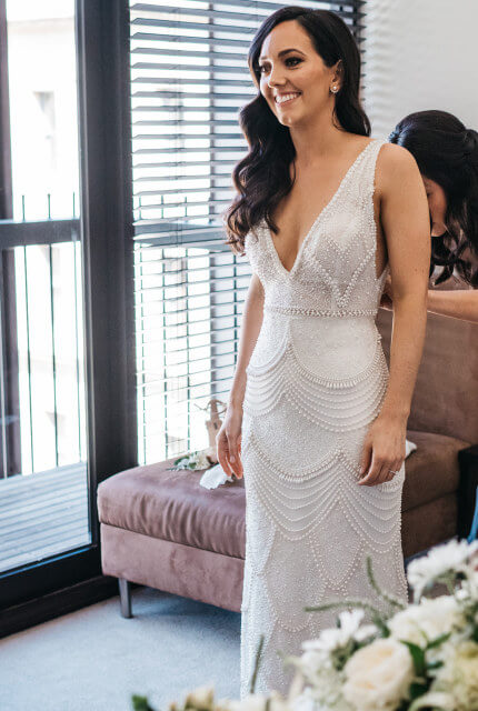 Vasiliki Couture – Size 8 Sheath dress | Second hand wedding dresses Geelong - 7