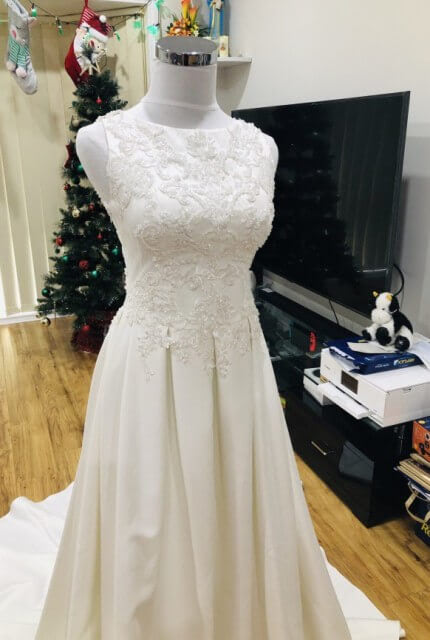 Bespoke / Other – Size 8 A-Line dress | Second hand wedding dresses Noble Park - 4