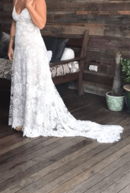Grace Loves Lace – Size 10 Fit and Flare dress | Second hand wedding dresses Bangalow - 5