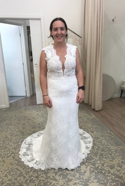 Zavana Bridal – Size 10 Fit and Flare dress | Second hand wedding dresses Leongatha - 2