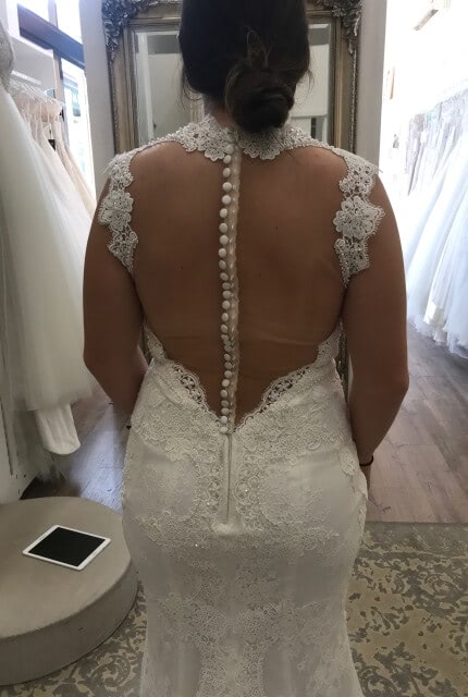 Zavana Bridal – Size 10 Fit and Flare dress | Second hand wedding dresses Leongatha - 5