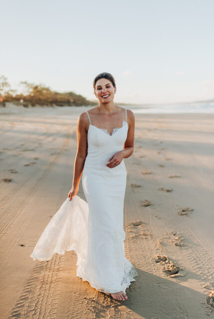 Kate Gubanyi – Size 10 Fit and Flare dress | Second hand wedding dresses Tewantin - 4