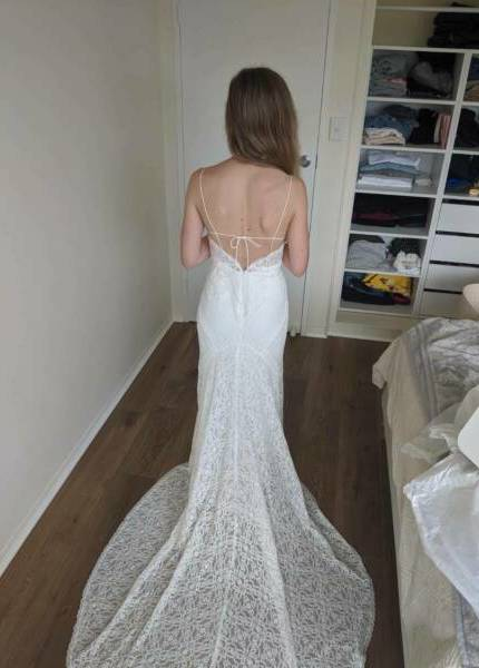 Bespoke / Other – Size 6 Fit and Flare dress | Second hand wedding dresses hampton park - 3