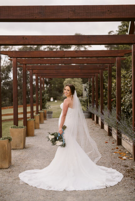 Brides of Armadale – Size 10 Fit and Flare dress   Second hand wedding dresses Mooroolbark - 2