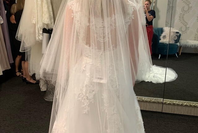 Stella York – Size 10 A-Line dress | Second hand wedding dresses Redcliffe - 4
