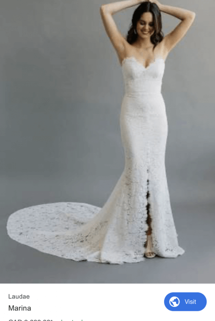 Bespoke / Other – Size 12 Strapless dress | Second hand wedding dresses Sale - 5