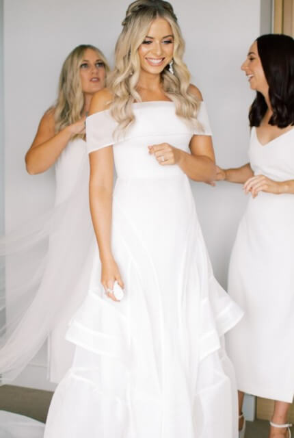 Georgia Young Couture – Size 8 A-Line dress | Second hand wedding dresses Halls HEAD - Size 8